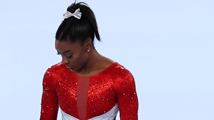 Biles explains event exit: 'I'm not in the right headspace'