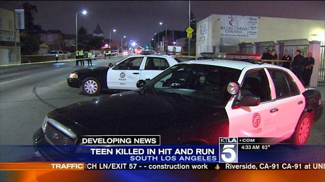 Hit-and-Run Driver Who Killed Teen in South L.A. Being Sought