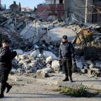 Israel-Hamas fighting eases along Gaza border, Israel moves up tanks and troops