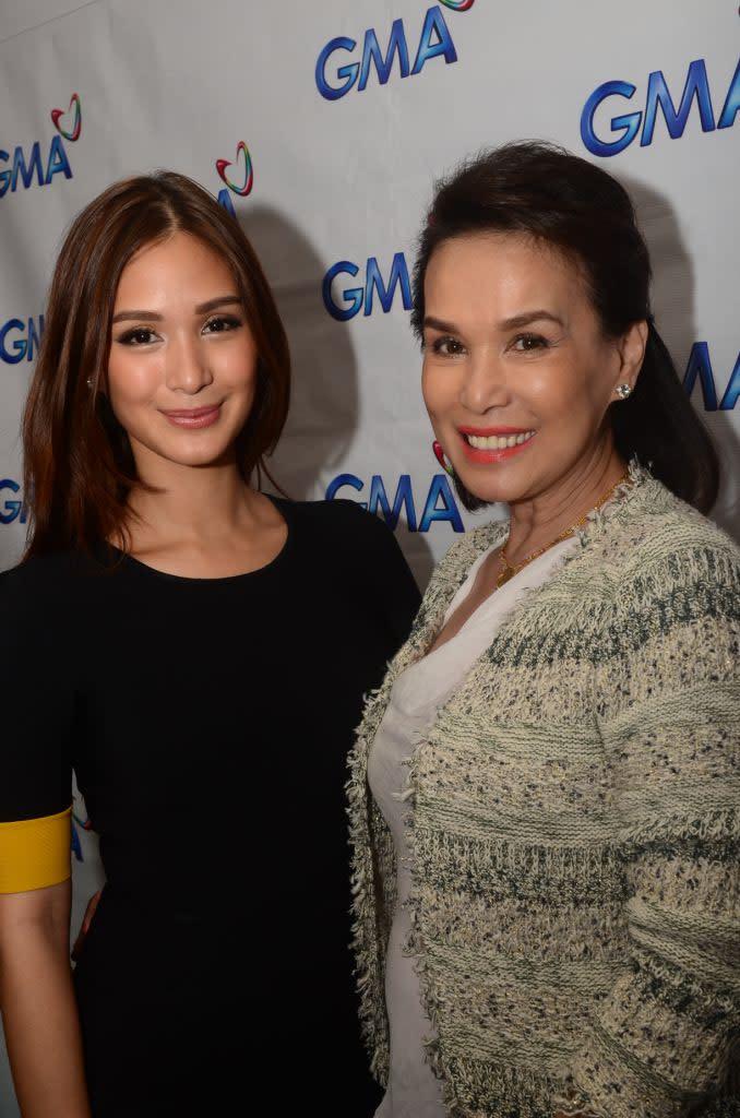 Photo de Heart Evangelista  & son mère  Maria Cecilia del Gallego Payawal