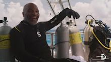 Mike Tyson 'knocks out' a shark as part of Discovery's 'Shark Week'