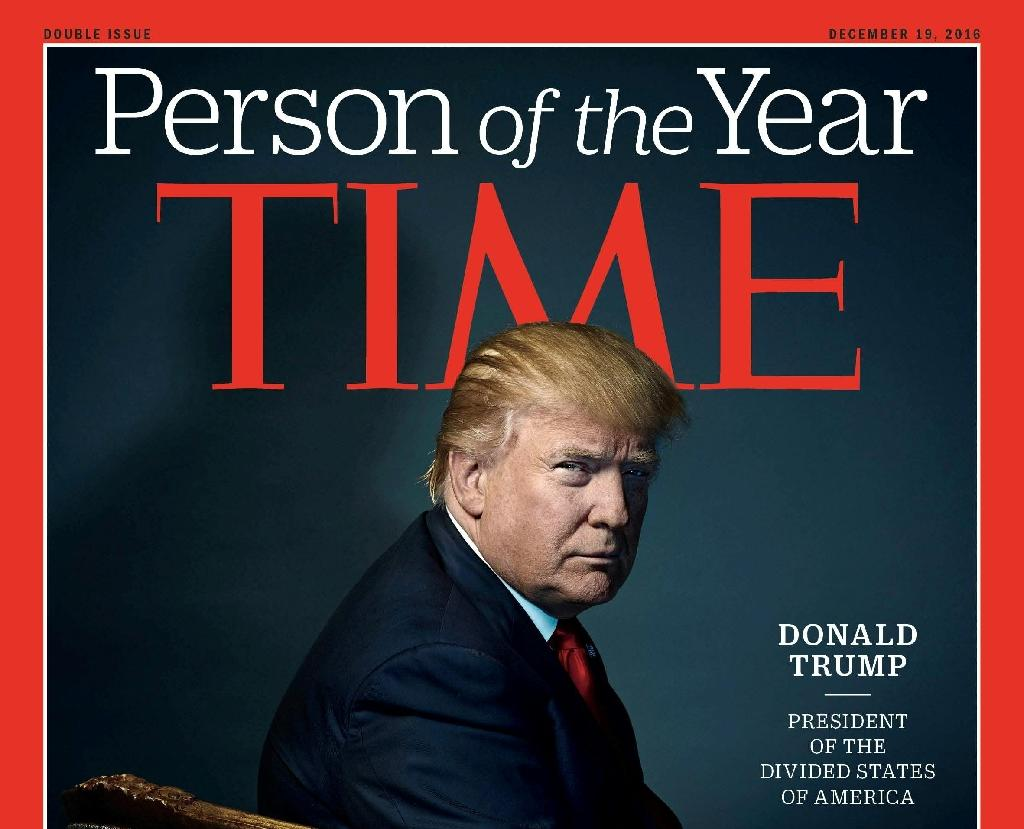 """Time magazine has named Donald Trump as its """"Person of the Year"""" for 2016 (AFP Photo/)"""