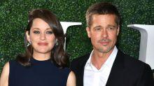 Ao lado de Marion Cotillard, Brad Pitt faz primeira aparição pública após separação