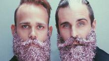 DIY 'Glitter Beards' Are the Festive New Fad in Facial Hair