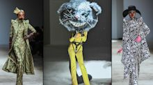 Model in a scary rat head walked a haute couture runway