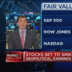 Stocks set to sink on geopolitical, earnings concerns