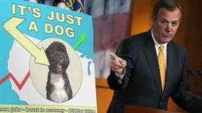 GOP: We'll Accept Higher Taxes If President Obama Gives Us His Dog