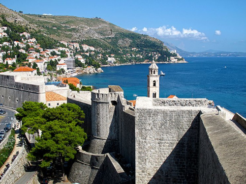 Outside the walls of Dubrovnik seen from the Tower Minceta, UNESCO World Heritage Site, Croatia. (Photo by Cristina Arias/Cover/Getty Images)