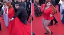 Model loses her dress at Cannes Film Festival