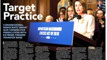 NRA Slammed For 'Target Practice' Headline Next To Photo Of Nancy Pelosi, Gabby Giffords