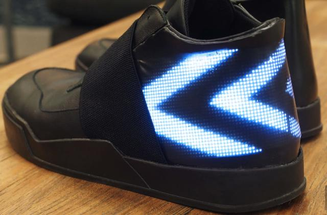 Vixole's Matrix shoe puts an active LED display on your feet