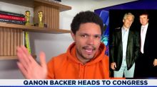 Trevor Noah Calls Out QAnon's Glaring Hypocrisy: 'Trump Was BFFs With Jeffrey Epstein'