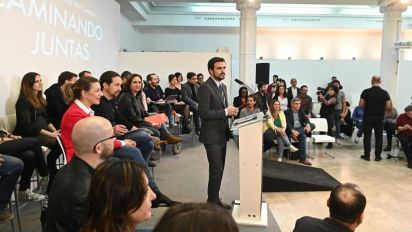 """Garzón apuesta por ampliar vínculos con Podemos: """"La unidad es irreversible"""""""