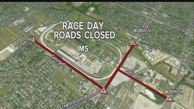 Race day road closures