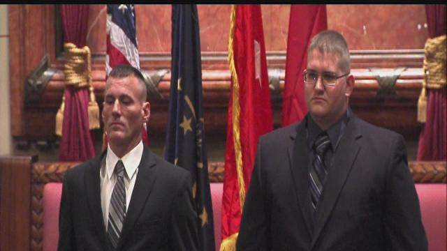 2 Ind. soldiers awarded Purple Heart 5 years later