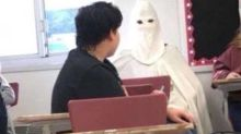 Teacher suspended for allowing student to dress as Ku Klux Klan member for class project
