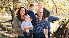 Prince Louis' cheeky grin steals the show as Royal family releases Christmas cards