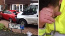 Drunk milkman crashes truck into house and car causing £40,000 worth of damage