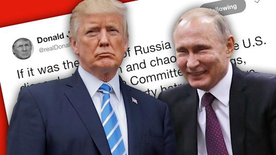 Trump: 'They are laughing their asses off in Moscow'