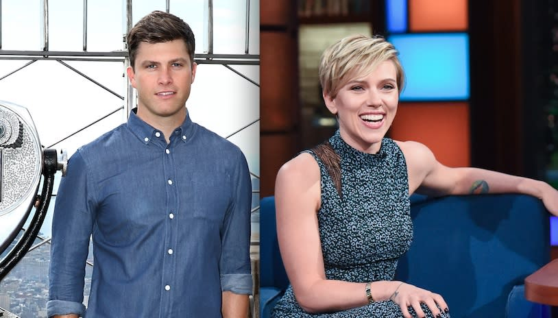 Scarlett Johansson And Colin Jost Made Their First Official Appearance As A Couple