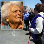 Dog Walkers Mourn Barbara Bush During Gathering on Maine Beach