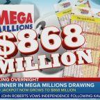 No Mega Millions drawing winner