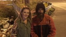 Young woman raises over $315K for homeless veteran who spent his last $20 to buy her gas