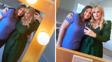 Rebel Wilson flaunts weight loss in stunning green jumpsuit
