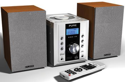 Pure Digital's DMX-25 DAB mini system handles MP3 / WMA