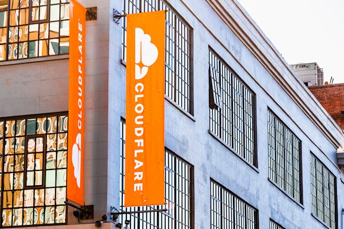 Nov 2, 2019 San Francisco / CA / USA -  Exterior view of Cloudflare headquarters; Cloudflare, Inc. is an Ameircan web infrastructure and website security company