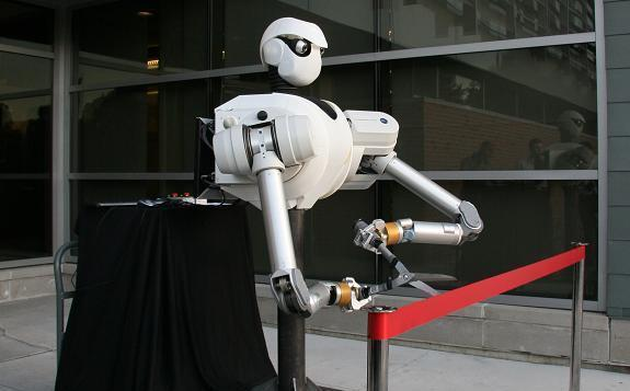 Iowa State robot available for ribbon cuttings, birthday parties, uprisings