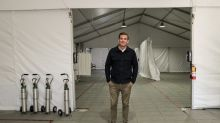 They were supposed to build stages for Coachella. Now they're building coronavirus triage tents