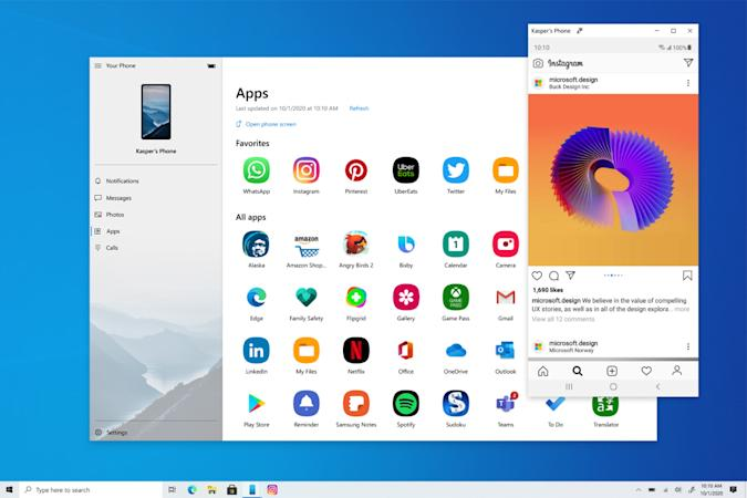 Your Phone Apps in Windows 10