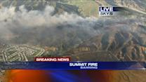 Homes Threatened by 1,500 Acres Wildfire in Banning