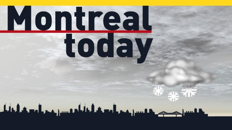 Montreal weather: Light snow, high of –5 C