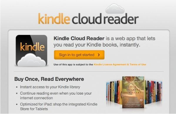 Amazon releases web-based Kindle Cloud Reader app, optimized for iPads