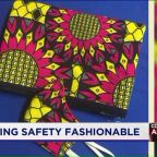 Retailer Repurposes Traditional West African Fabric to Make Masks