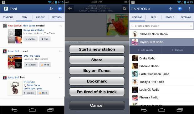 Pandora app gets major redesign on Android and iOS with new social features