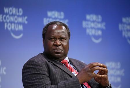Tito Mboweni, South African Finance Minister, looks on during the official opening of the World Economic Forum on Africa in Cape Town