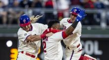 Phillies top Yankees 8-7 for 3rd straight walkoff victory