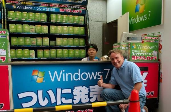 Linus Torvalds gives Windows 7 a big thumbs up