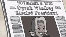 Serie animada predijo triunfo de Oprah en 2020