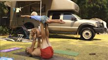 Nomadic yoga family travels the world in a van