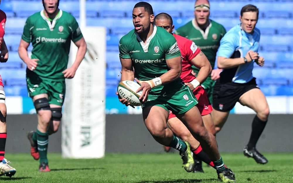 Joe Cokanasiga in action for London Irish - Rex Features
