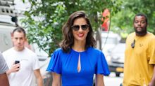 Olivia Munn Shows Some Serious Leg in a Sexy Cobalt Dress in N.Y.C.