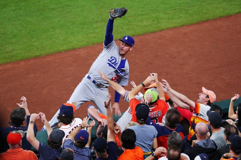 Dodgers rookie Cody Bellinger is a lock for NL Rookie of the Year. (AFP)