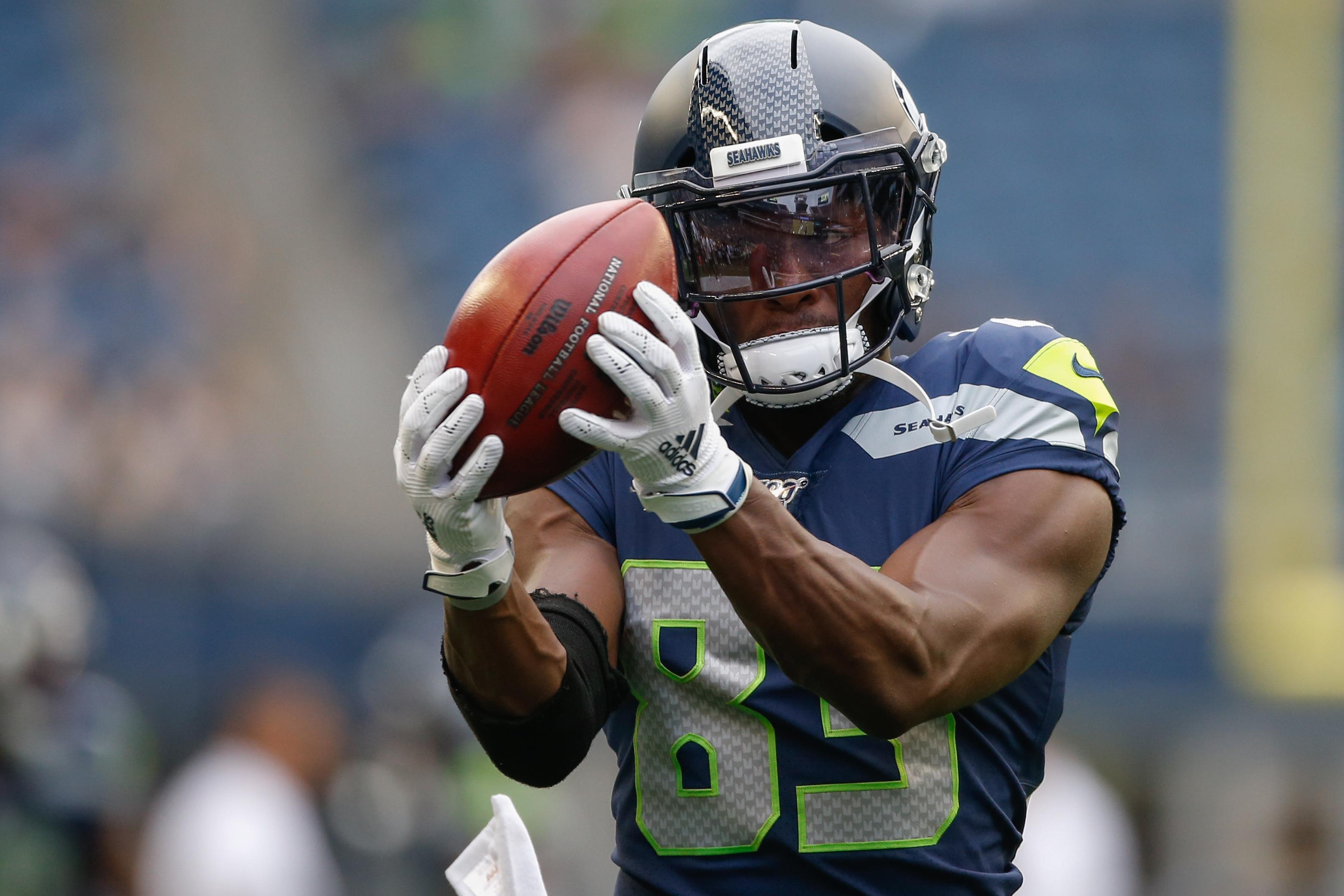 pretty nice 94d91 d34e6 David Moore (shoulder) is the latest injured Seahawks WR