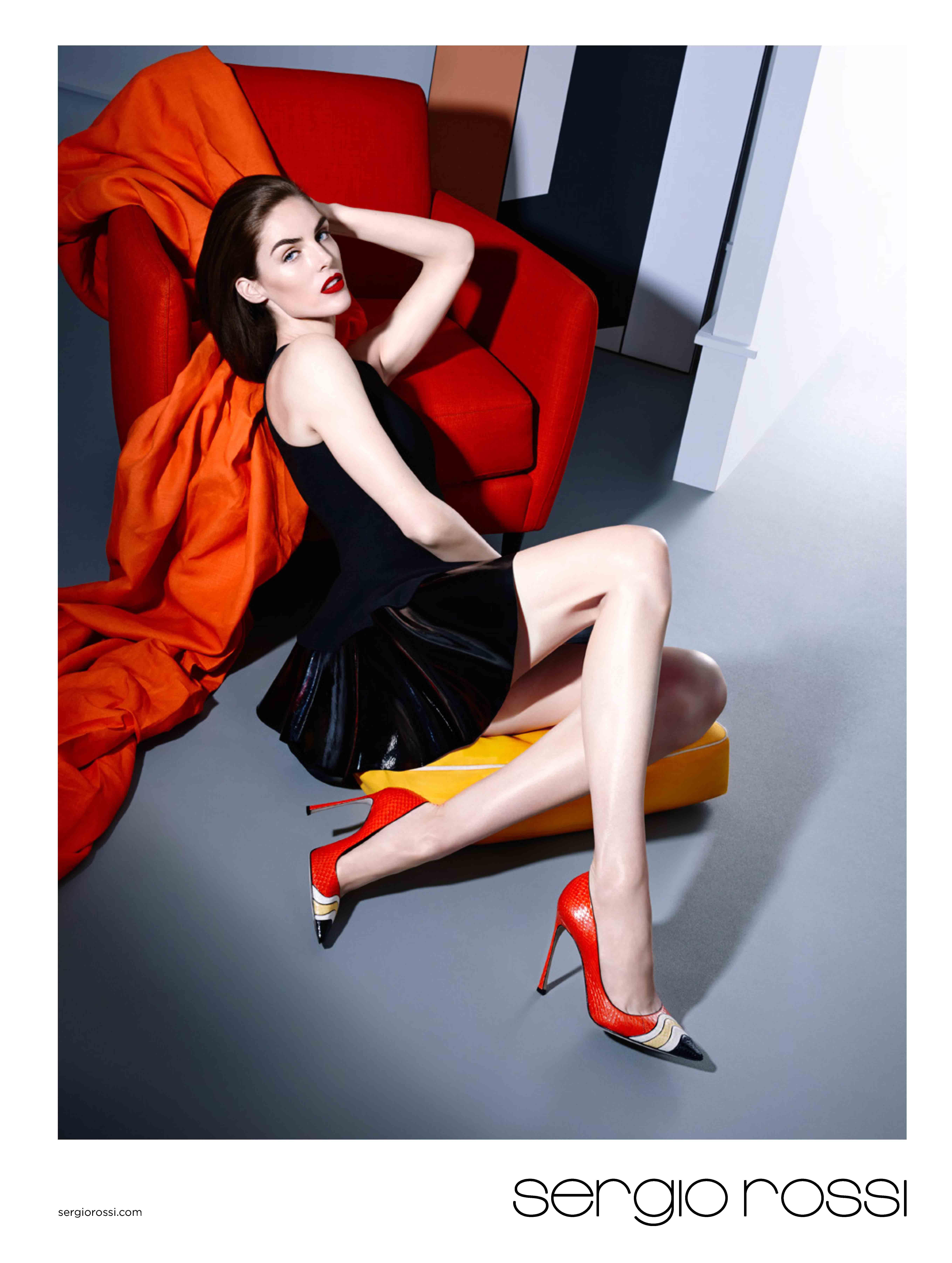 Hilary Rhoda Poses In Latest Sergio Rossi Campaign