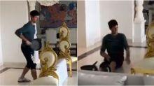 WATCH: Novak Djokovic wins 'pan'tastic rally in his living room tennis court