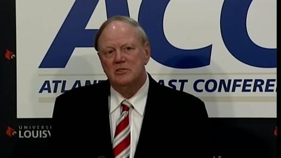 Raw video: UofL president on joining ACC